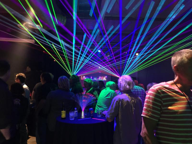 corporate reunion features laser effects