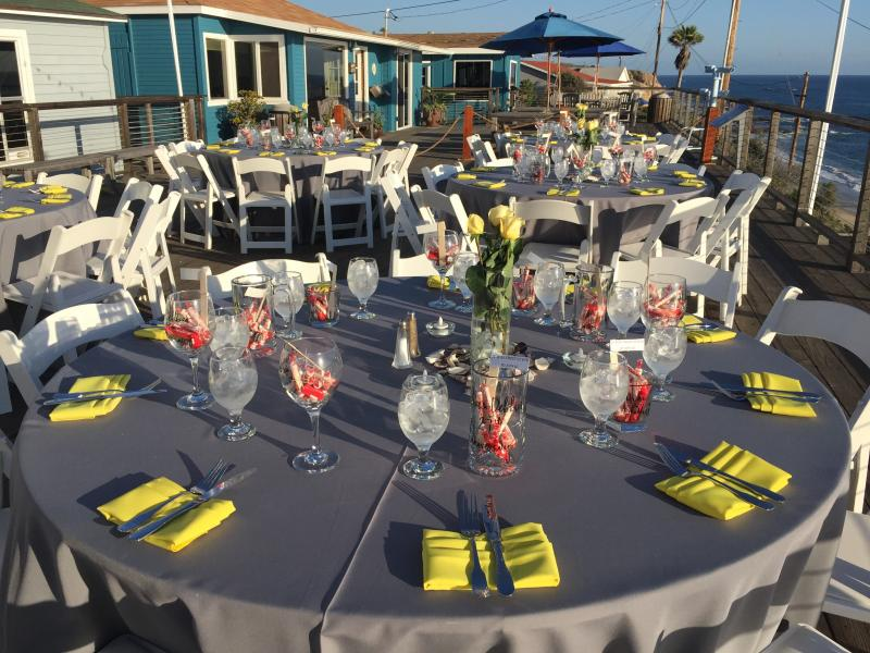 Outdoor beach vow renewal party